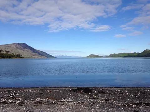 Camping from tent on Knoydart